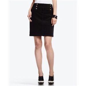 White House Black Market Black Corduroy Mini Skirt